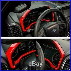 48pcs Full set Interior Decorative Cover Accessories for Ford F150 2015-2018 Red