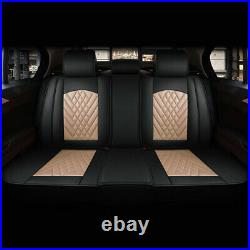 5-Seats Luxury Car Seat Covers Decor Front Rear Full Set Cushions For SUV Truck