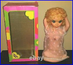 Battery Op Sexy Doll Radio Boxed 1960's Risque Bar Decor Man Cave Barware Works