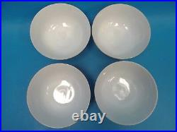 Decorated in Hong Kong Porcelain Rose Bees Small Soup Bowls Decorative Asian
