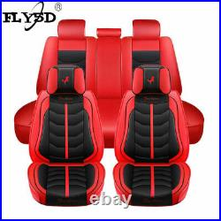 Deluxe Car Seat Cover 5-Sits PU Leather Automotive Interior Decor Cushion FLY5D