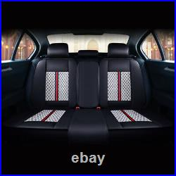 Deluxe Leather 5-Seats SUV Automotive Decor Car Seat Covers Front+Rear Cushions