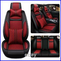 Fashion Luxury Car Seats Cover Red Universal Auto Decor For SUV 5-Sits Cushions