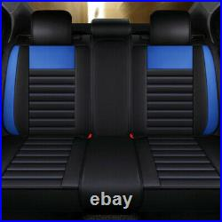 Fly5D Auto Decor PU Leather Seat Covers Car Front Rear Luxury Cushion WithPillows