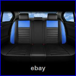 Fly5D Car Seat Covers PU Leather Front & Rear Set Universal Car Interior Decor