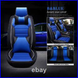Fly5D Interior Decor Car Seat Cover PU Leather Breathable Cushion For Saloon SUV