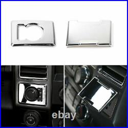 Full Set Inner Center Console Trim Decor Accessories For Ford F150 2015+ Chrome