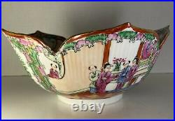 Hand Painted Rose Medallion Lotus Bowl 10 Made In Japan Decorated In Hong Kong