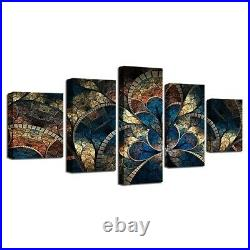 Home Decor Abstract Fantasy Flowers Canvas Prints Painting Wall Art Poster 5PCS
