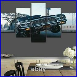 Home Decor Picture Low rider Hop Car Canvas Prints Painting Wall Art Poster 5PCS