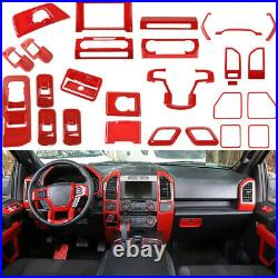 Interior Decoration Cover Panel Trims Full set Accessories for Ford F150 15+ Red