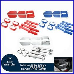Interior Door Panels Handle Decoration Covers Trims For Jeep Wrangler 2007-2010