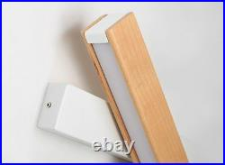 LED Rotated Lamp Modern Nordic Solid Wood Bedside Night Bedroom Light Wall Decor