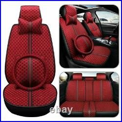 Luxury 5-Seats Auto Decor Car Seat Cover Front Rear Protector Cushion Universal