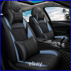 Luxury Car Seat Cover Auto Leather Decor Universal SUV Front Rear Full Wrap Set