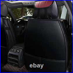 Luxury Car Seat Cover Thicken PU Leather Front & Rear Full Set Accessories Decor