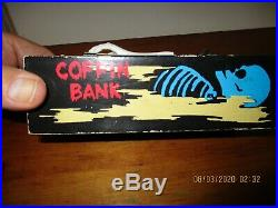 Outstanding Working Vintage Coffin Bank Nice Rare Decoration