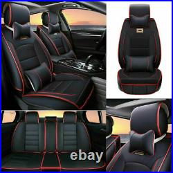 PU Leather Car Seat Cover Universal Protector Decor Accessories 5-Sits Cushions