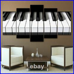Piano Keys Keyboard Music Canvas Print Painting Wall Art Home Decor Picture 5PCS