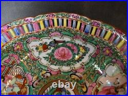 Rose Medallion 10 BOWL Reticulated Decorated in Hong Kong by Japan Porcelain