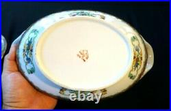 Stunning Vintage YT Decorated In Hong Kong Famille Rose Soup Tureen