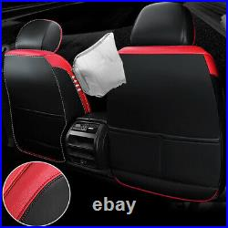 Universal Red+Black Cushion Leather Car Seat Cover Auto Decor Interior Protector