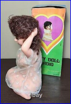 Vintage 1960's Sexy Doll Radio In Box Risque Bar Game Room Decor Barware Works