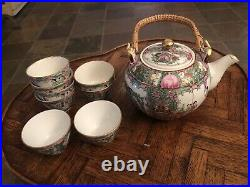 Vintage Japanese Porcelain Ware by A. C. F. Decorated In Hong Kong, 48pc Set