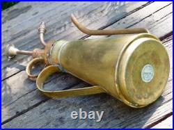 Vintage watering can brass with mister decorative 8tall made in hong kong