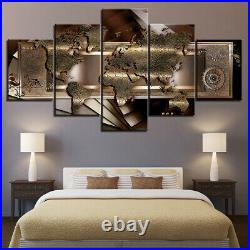 World Map Poster Abstract Art Canvas Prints Painting Wall Art Home Decor Picture